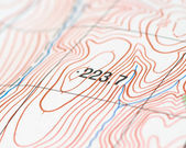 Topographic map — Stock Photo