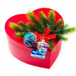Christmas concept with decoration and giftbox — Stock Photo #6817490