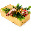 Christmas concept with decoration and giftbox - Stockfoto