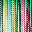 Abstract with colourful pearl necklaces — Stock Photo #6818788