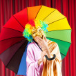 Theater concept with masked actor — Stock Photo #6818923
