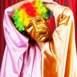 concepto de teatro con el actor enmascarado — Foto de Stock