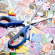 Royalty-Free Stock Photo: Cut letters from newspapers and magazines