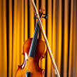 Stock Photo: Music concept with violin