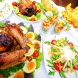 Table served with tasty meals — Stock Photo #6819513