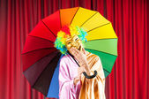Theater concept with masked actor — Stock Photo