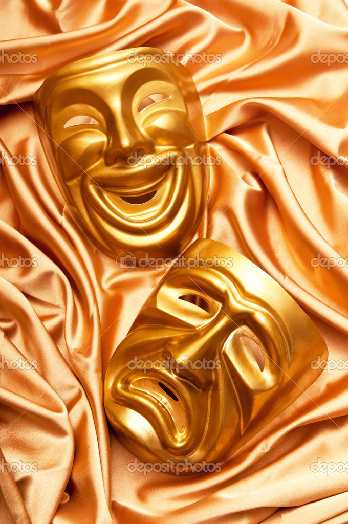 Masks with the theatre concept — Stock Photo #6819145