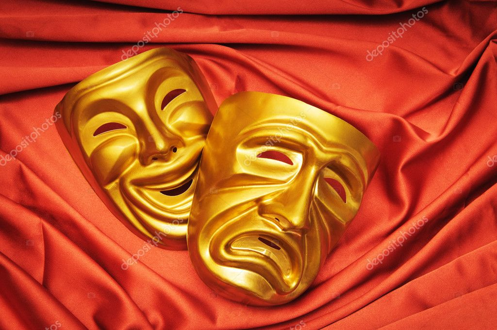 Masks with the theatre concept  Stock Photo #6819161