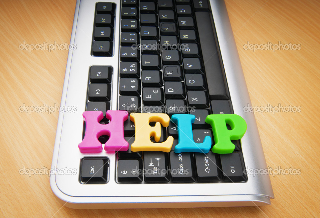 HELP concept with letters on keyboard — Stock Photo #6819314