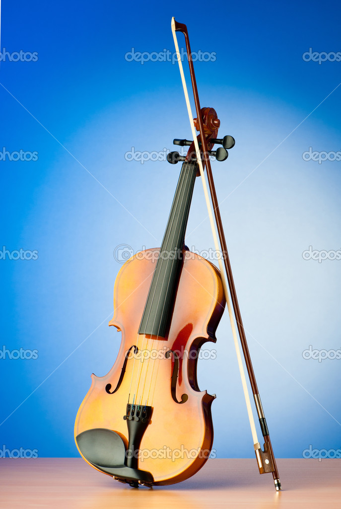 Music concept with violin — Stock Photo #6819444