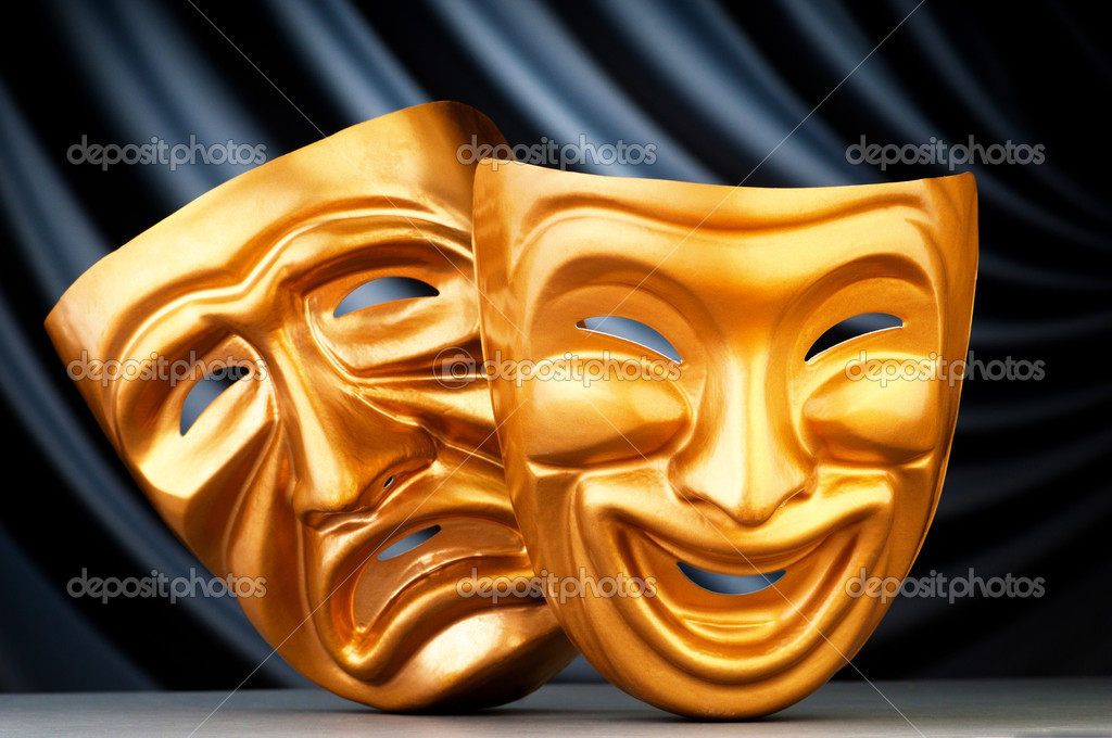 Masks with the theatre concept — Stock Photo #6819587