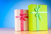 Giftboxes on the background — Stock Photo