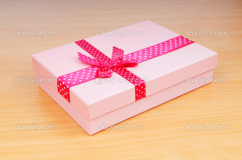 Christmas concept with giftbox on table — Stock Photo #6822116