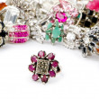 Selection of many precious rings - Stockfoto
