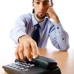 Businessman talking on the phone — Stock Photo #6836601