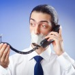 Businessman with his lips sealed — Stock Photo #6836602