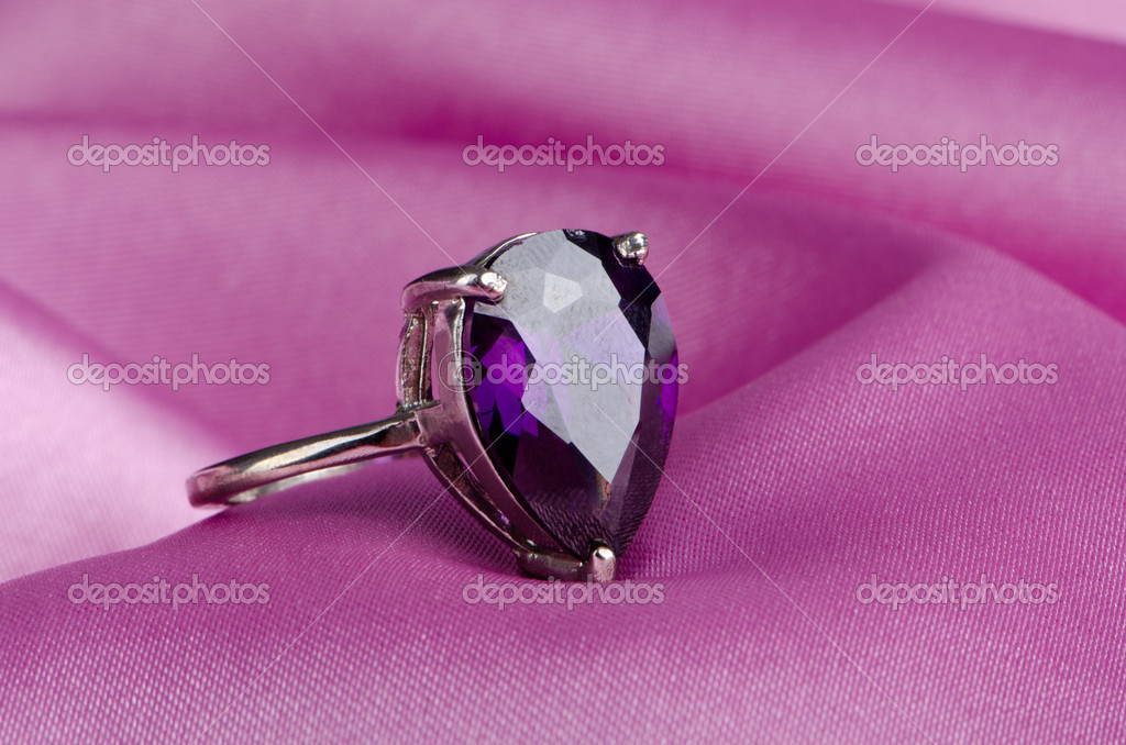 Fashion concept with ring on background — Stock Photo #6837187