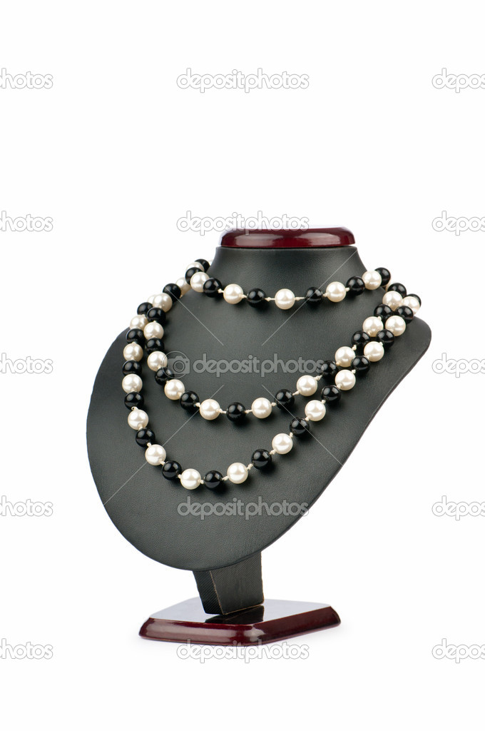 Fashion concept with necklace — Stock Photo #6838083
