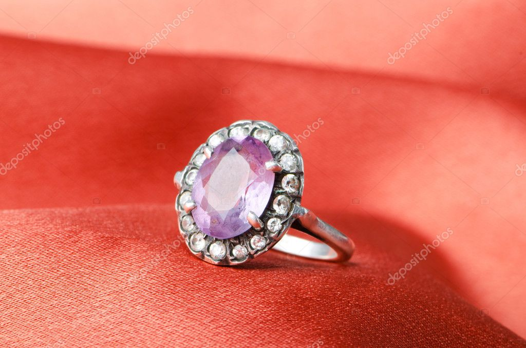 Fashion concept with ring on background  Stock Photo #6838090