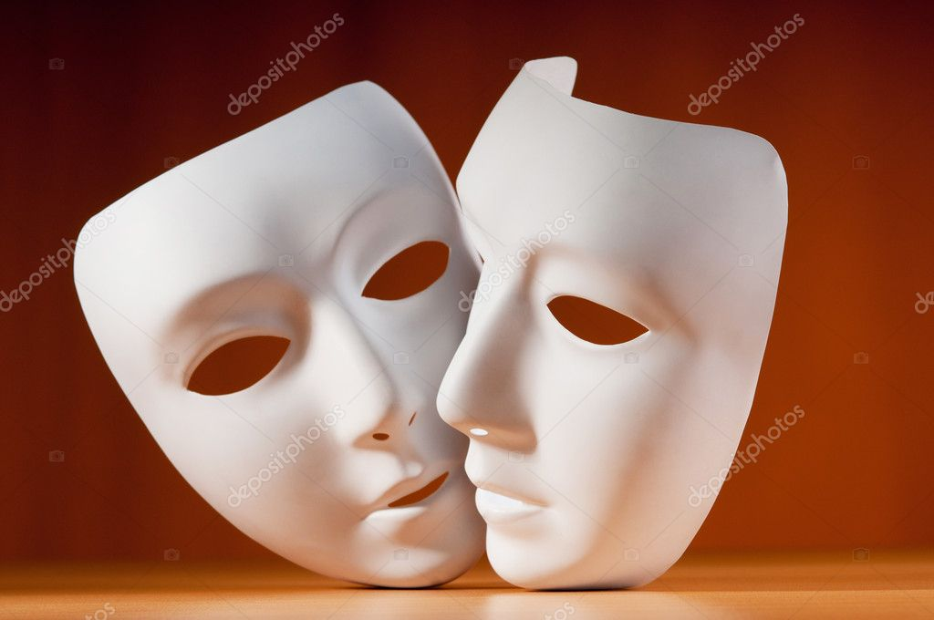 Masks with theatre concept — Stock Photo #6838852