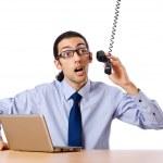 Businessman talking on the phone — Stock Photo #6842735