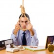 Businessman with thoughts of suicide — Stock Photo #6842776