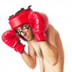 Funny boxer isolated on white — Stock Photo #6842821