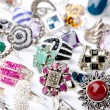Selection of many precious rings - Stok fotoraf