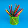 Stock Photo: Colourful pencils on the background