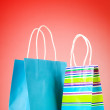 Shopping concept with bags - Zdjcie stockowe