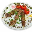 Royalty-Free Stock Photo: Meat kebab served in plate