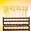 Chemical lab with glass tubing — Stock Photo