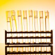 Stock Photo: Chemical lab with glass tubing