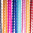 Abstract with colourful pearl necklaces - Stok fotoraf