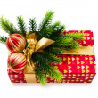 Christmas concept with decoration and giftbox — Stock Photo #6845540