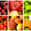 Collage of many fruits and vegetables — Stock Photo #6845676