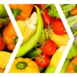Collage of many fruits and vegetables — Stock Photo #6845708