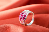 Fashion concept with ring on background — Foto de Stock