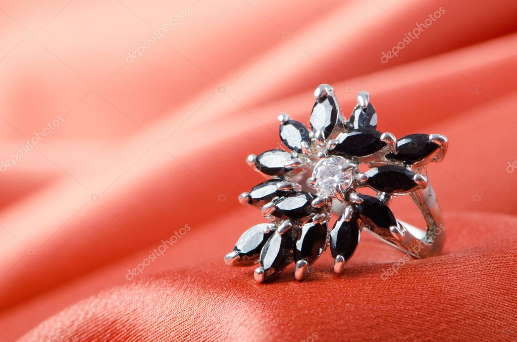 Fashion concept with ring on background — Foto Stock #6842298