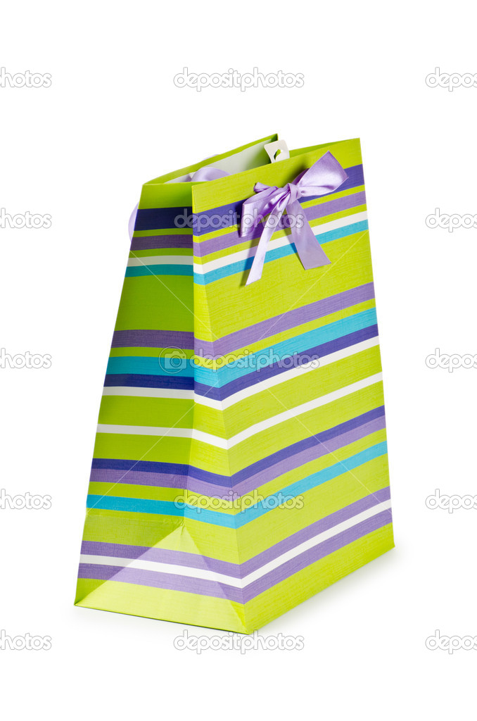 Shopping concept with bag on white — Stock Photo #6843113
