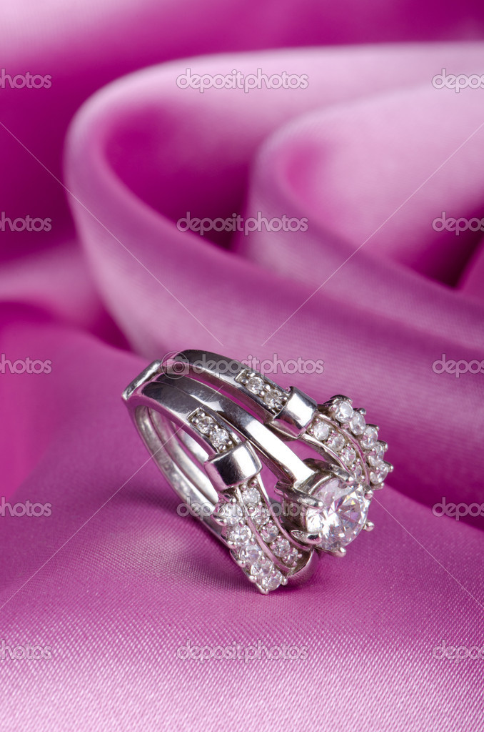 Fashion concept with ring on background — Stock Photo #6843501