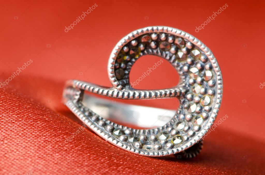 Fashion concept with ring on background — Stock Photo #6843620