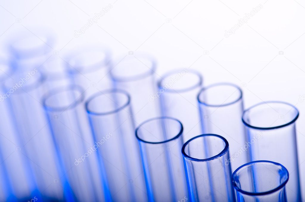 Chemical tubing at gradient background — Stock Photo #6843863