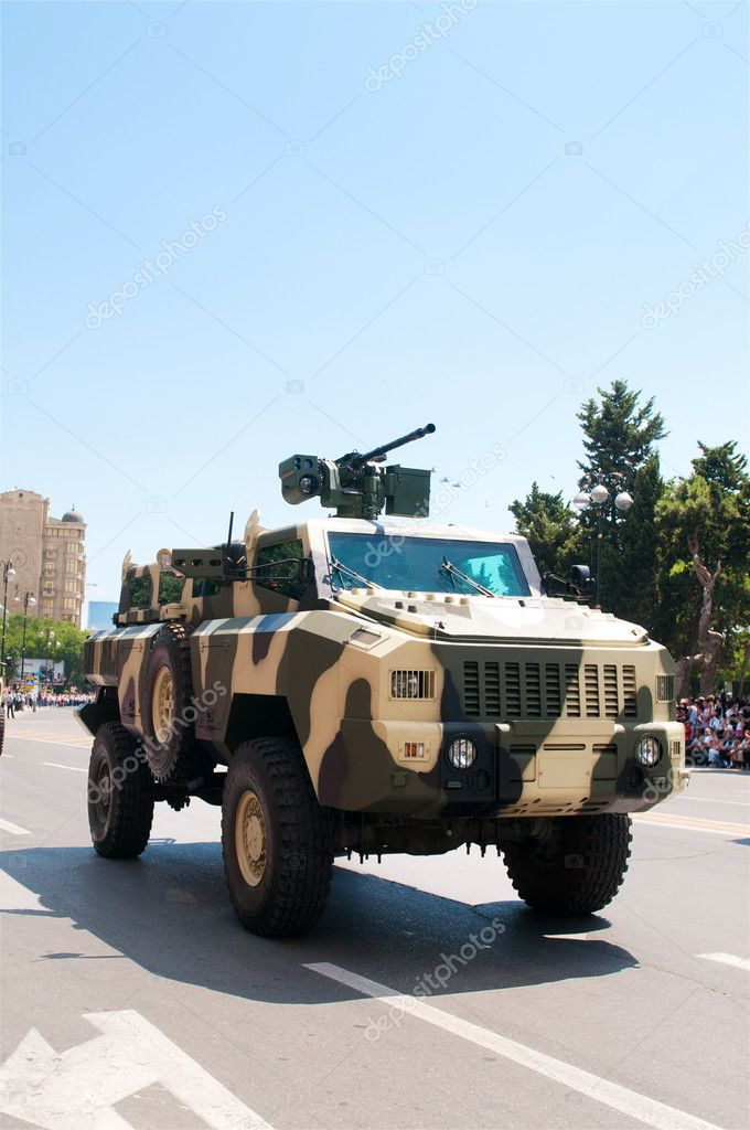 BAKU - 26 June 2011 - Miliatary Parade in Baku, Azerbaijan on Army Day — Stock Photo #6844121