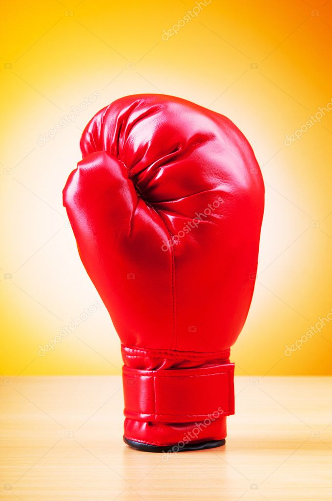Boxing gloves on the table — Stock Photo #6844147