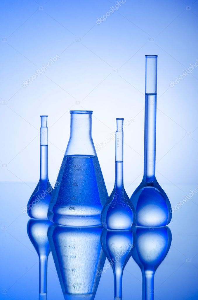 Chemical tubing at gradient background — Stock Photo #6844305