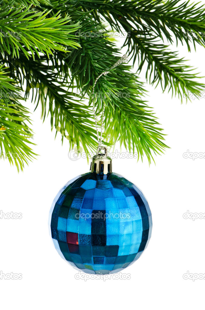 Christmas concept with baubles on white — Stock Photo #6844797