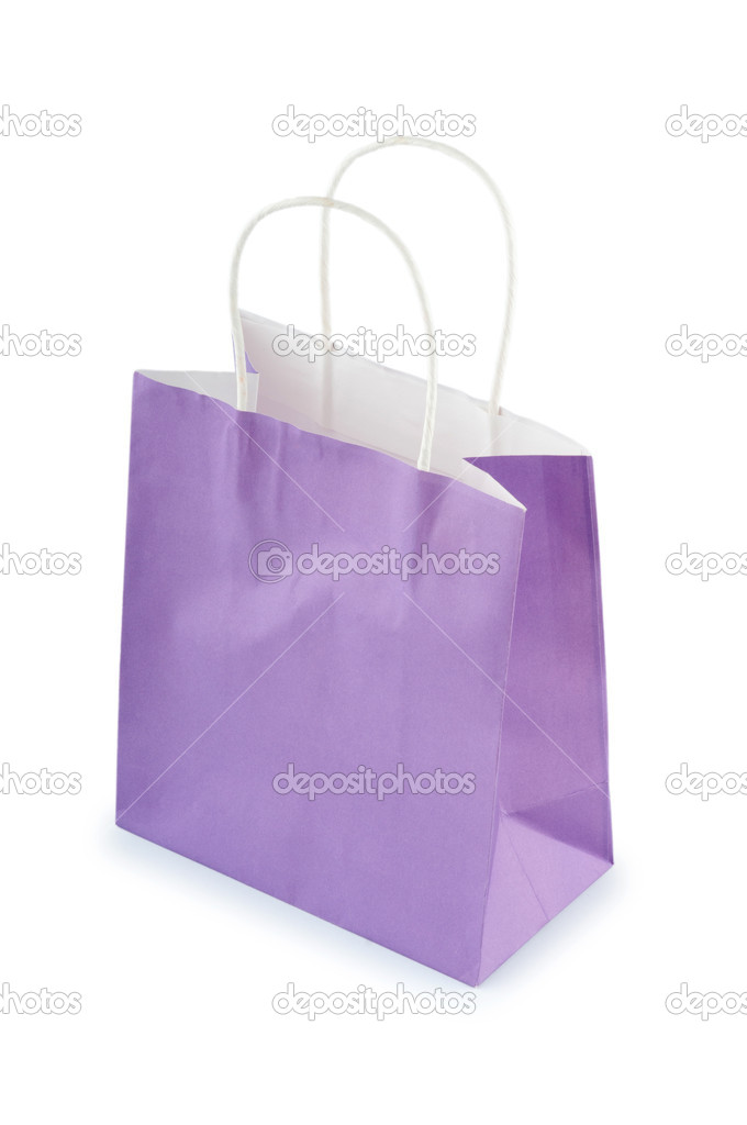 Colourful paper shopping bags isolated on white  Stock Photo #6844931