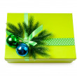 Christmas concept with decoration and giftbox — Stock Photo #6881030