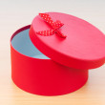 Christmas concept with giftbox on table — Stock Photo